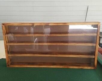 Pine Shot Glass Display Case