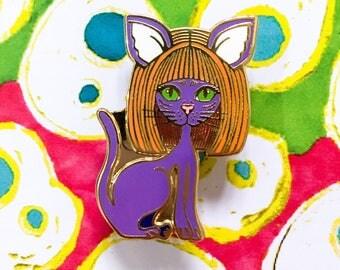Aspie Cat Hard Enamel pin