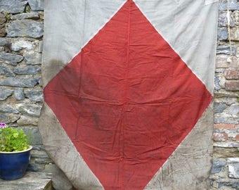 Filthy F! Oily Old Signal Flag. Maritime Flag, Coastal Decor
