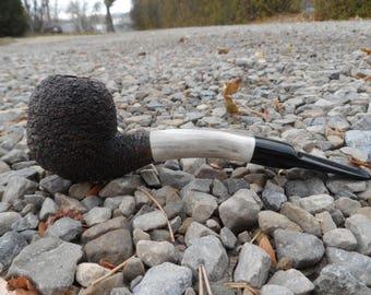 rusticated antler briar pipe