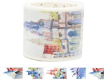 Travel Edition for Scrapbook - Australia Watercolor Painting Washi Tape