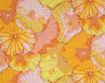 fat quarter Kaffe Fasset lotus leaf orange, yellow, pink