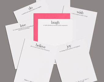 A Little Wordy Notecards - package of 8