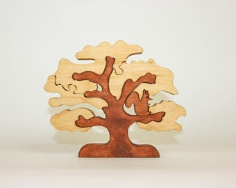 Intriguing, stylish, home accessory, wooden hand crafted tree puzzle!
