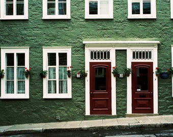 Blocks and Lines - Quebec, Canada, apartments, symmetry, architecture, travel photography, film
