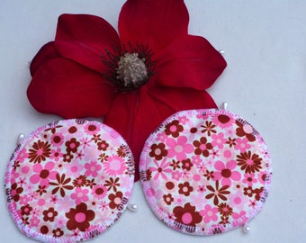 Reusable Beautiful Floral Print Breast Pads. Breathable, Light, Non-slip, Heavy Absorbency Nursing Pads. *Ship Worldwide*.