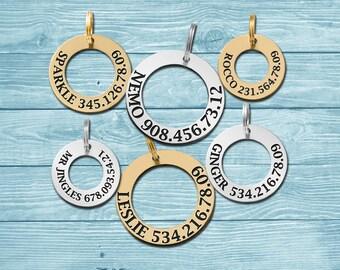 Disk Dog Tag, Circle Dog Tag, Personalized Dog Tag, Pet ID Tag, Dog ID Tag, Custom Tag, Custom Dog Tag, Personalized Tag, Engraved Tag