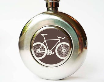 Hip flask - bicycle