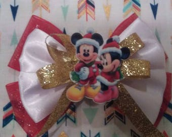 Winter girl and boy mouse bow