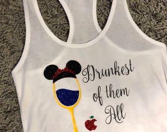 Drunkest of Them All Disney Princess Epcot Food and Wine Festival Tank