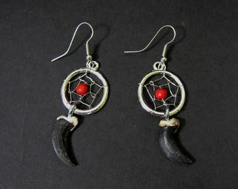 Coyote Claw Dreamcatcher Earrings