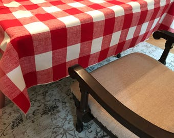 Superior Valentine Tablecloth | Picnic Tablecloth | Buffalo Plaid Tablecloth | Checkered  Tablecloth | Plaid Tablecloth |
