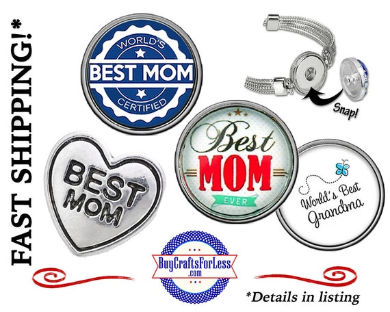 BeST MoM SNAP Buttons, 18mm INTERCHaNGABLE Buttons, 4 NeW designs +FREE Shipping & Discounts