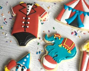 1 Dozen Circus Carnival Sugar Cookies