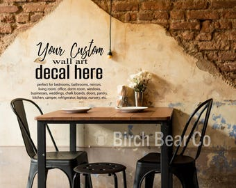 Custom Wall Decal   Home Decor   Make Your Own Decal   Personalized Decal  Sticker Home Part 70