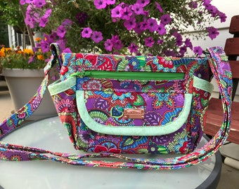 Ursula Purse in Multicolors with Crossbody Strap
