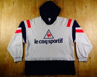 Rare Vintage LECOQ Sportif 90s Sweatshirt Hoodie