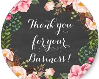 "24 PCS ""Thank You For Your Business!"" sticker, Seals, Scrapbook Supplies, Stationary, Paper, Paper Stickers, Stickers, Paper Supplies"