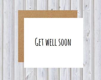 Get Well Soon card - Get Well 1 card