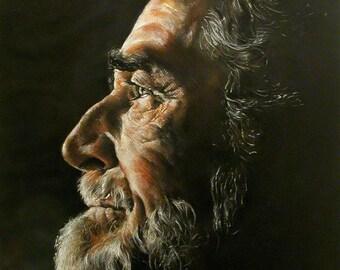custom portrait, man portrait, pastel portrait, from photo