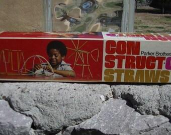 1976 Parker Brothers Con Struct-O-Straws Box Set
