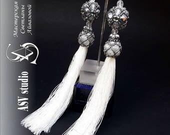 "Luxury earrings-brushes ""SNOW QUITE"""