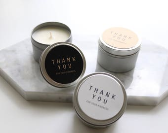 Thank you Travel Tin Candles