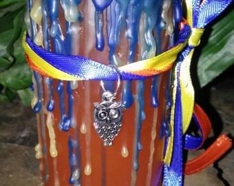 Goddess Athena Wiccan Ritual Pillar Candle