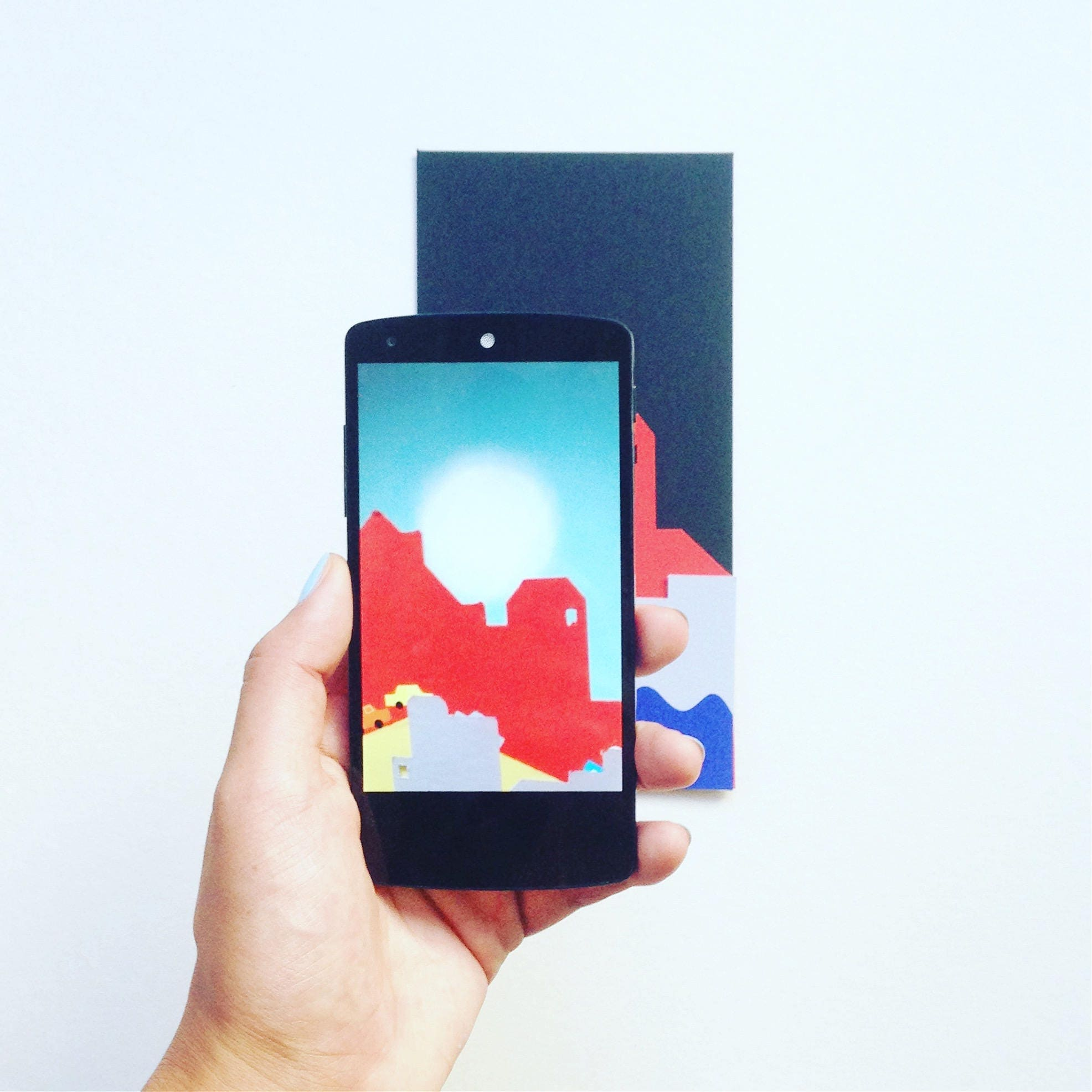 RISING SUN Animated Paper Card in Augmented reality from the