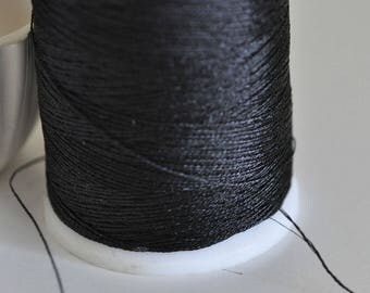 1 meter of metallic black cord 0.8 mm diameter