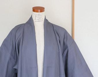 Vintage Japanese Kimono /// Gray kimono, see-through gray kimono, see-through gray robe, vintage gray robe, Vintage gray see-through kimono