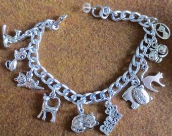 Charm Bracelet for a Cat Person