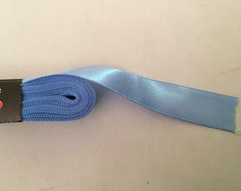 Satin ribbon coupon of 10 meter blue 2 cm
