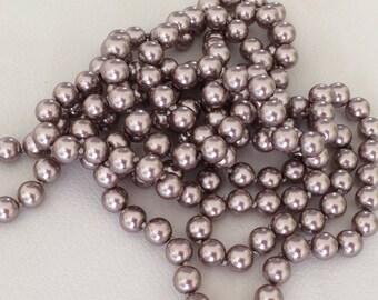 160 Perle 8 mm cappuccino color glass