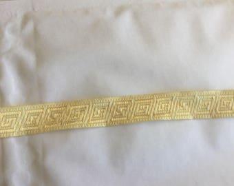 Medieval beige Ribbon of 1.5 cm in width