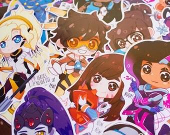 Overwatch girls Stickers