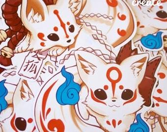 Kitsune Yökai Stickers