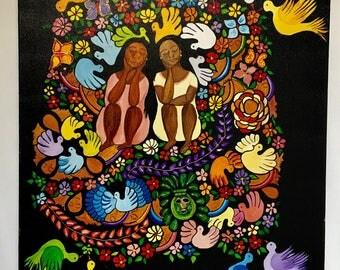 Acrylic painting on canvas Latino