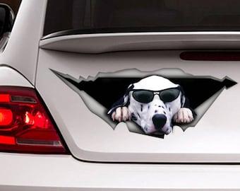 Dalmatian car Decal, Pet decal , Dog Decal, Vinyl Decal, Car Decal, funny decal, Laptop Decal, 3D sticker