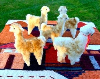 Alpaca Stuffed Plush Toy; Alpaca Replica, Peruvian Alpaca stuffed Animal; Unique and Special Gifts, Peruvian handcrafted Llama
