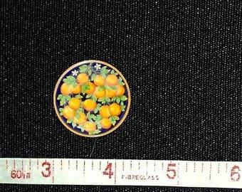 Artisan Made Dollhouse Miniature Majolica Plate Handpainted, 1:12 Scale
