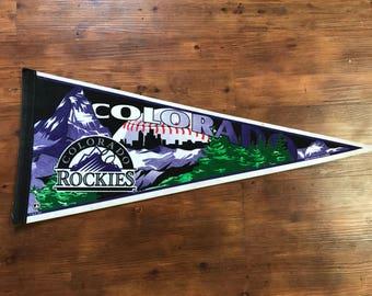 Vintage Colorado Rockies Pennant 1990's MLB memorabilia