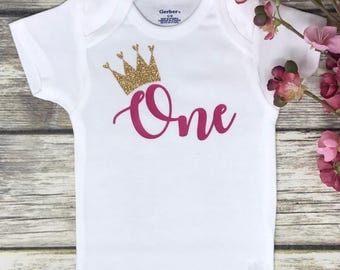 First Birthday Onesie | 1st Birthday Onesie | Personalized Birthday Onesie | Custom Birthday Onesie | Birthday Baby