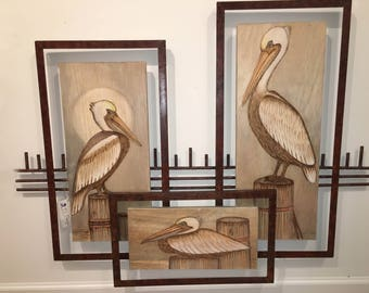 Pelicans in Wall Frames - CW670