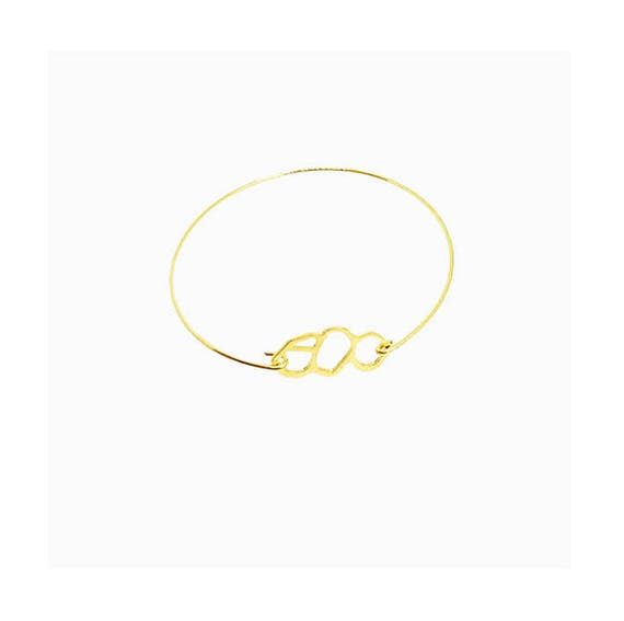 A DAY IN Marseille/Mucem Bangle Bracelet, finish gold