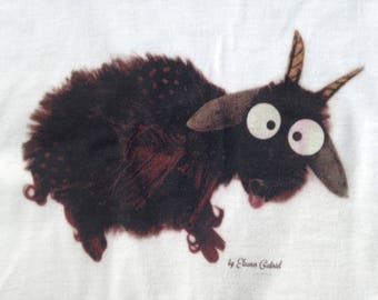 Women's T-shirt with funny goat