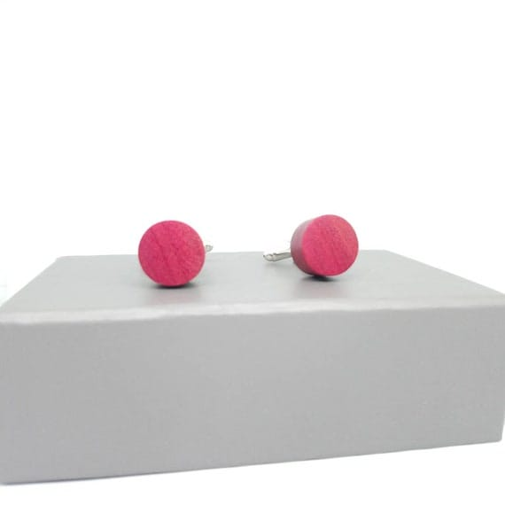 Pink Ivory Cufflinks- handcrafted jewellery by Crickhollow Crafts - bespoke by nature