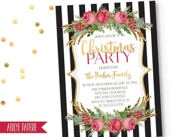 printable christmas party invitations free templates