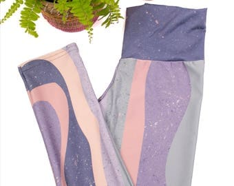 Women's Yoga Tights / Festival Leggings / Pastel Yoga Leggings / Geometric Leggings / Yoga Clothes / Yoga Tights / Athletic Wear