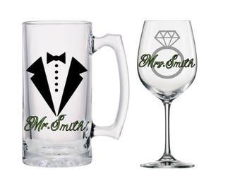 Beer and wine wedding gift